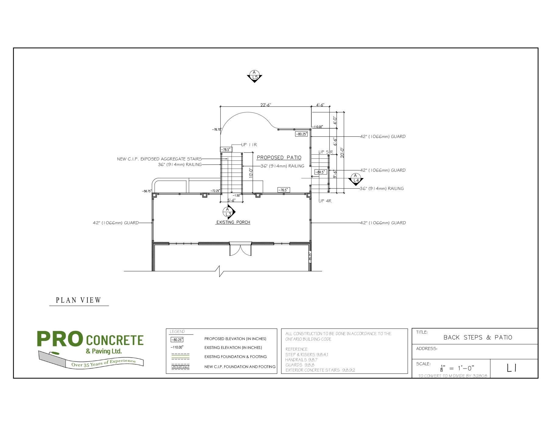 Back Patio & Steps Design